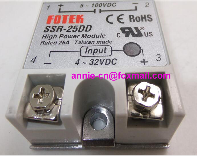 ФОТО 100% New and original  SSR-25DD  FOTEK SOLID STATE RELAY   2-100VDC,4-32VDC,25A