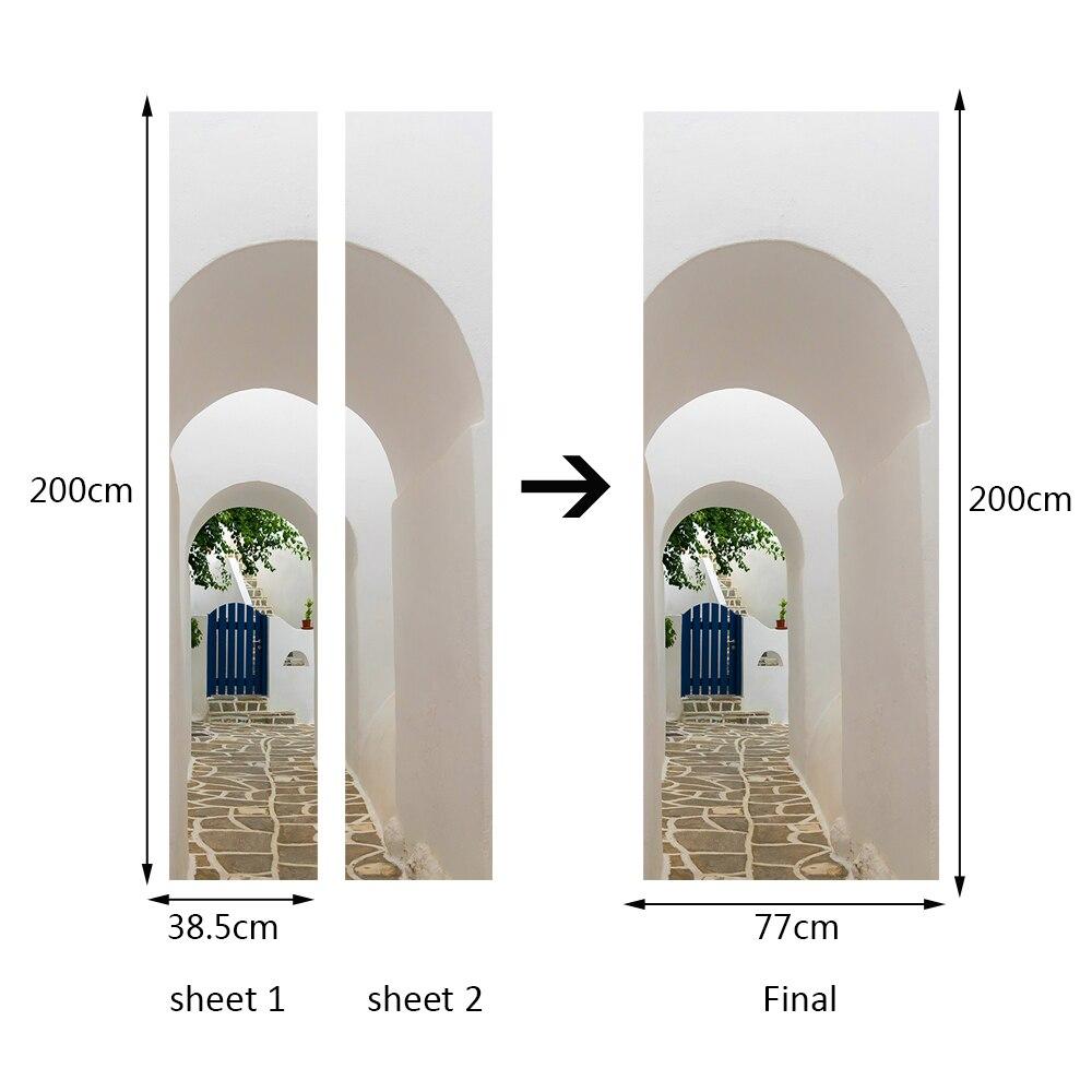 Schlafzimmer Griechisch | 3d Griechischen Veranda Tur Aufkleber Tapete Nachahmung Wand