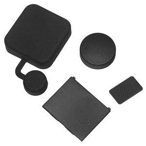 Image 3 - Capa lente 4 em 1 para gopro hero, cobertura de lente + tampa da lente + porta de substituição + capa de porta lateral 4/3 + câmera
