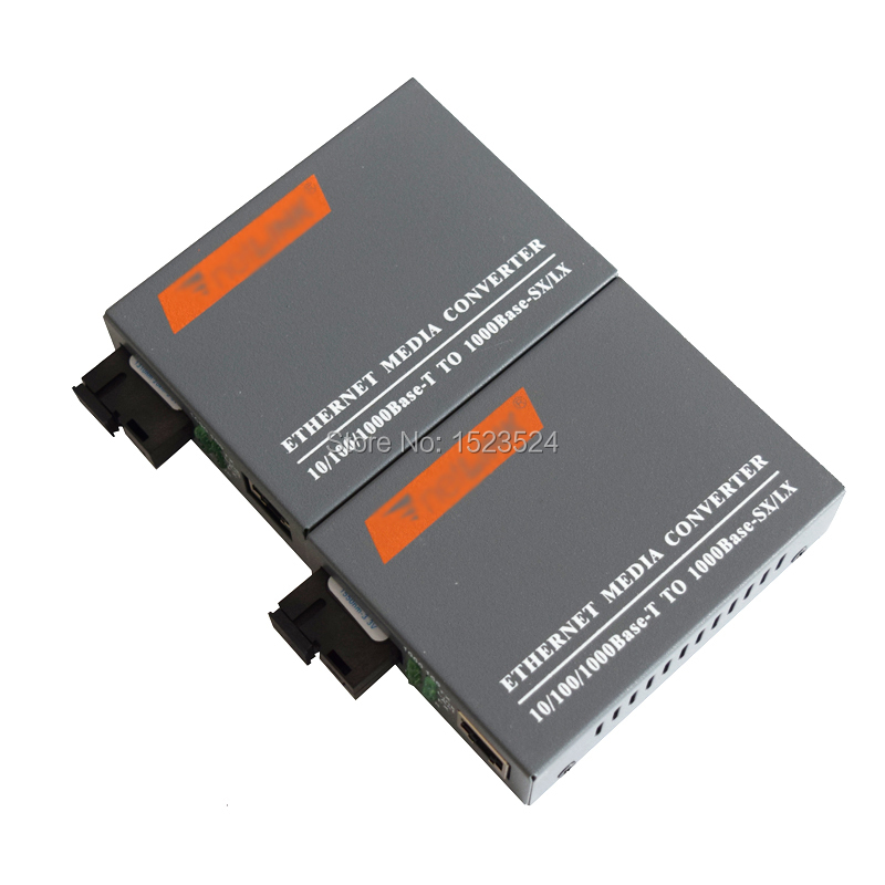 HTB-GS-03 A&B 3pairs Gigabit Fiber Optical Media Converter 1000Mbps Single Mode Single Fiber SC Port External Power Supply