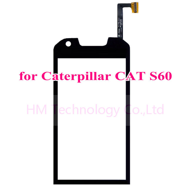 "4.7"" Black TP for Caterpillar CAT S60 Touch Screen Digitizer Front Glass Panel No LCD Phone Replacement Part Free Shipping+Tools"