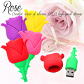 Rose USB Flash Drive 64GB Creative Gift Pendrive 64GB Real Capacity USB Stick Pen Drive 32GB USB Flash Flower Flash Drive Stick