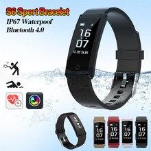 Новые S6 Smart Браслет Спорта Шагомер фитнес трекер сна монитор браслет IP68 Водонепроницаемый smartband для iOS телефона Android