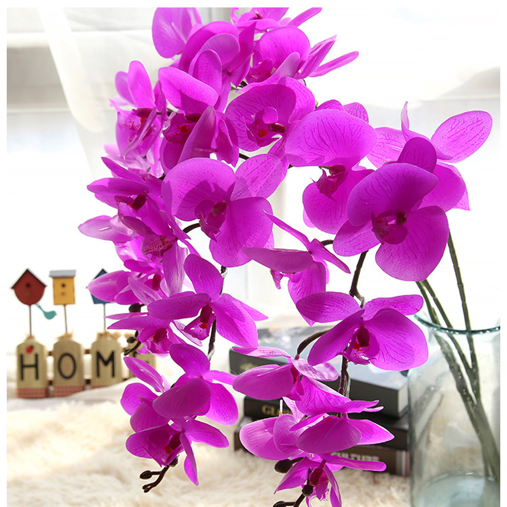 2017 High Quality Artificial Silk Fake Flowers Phalaenopsis