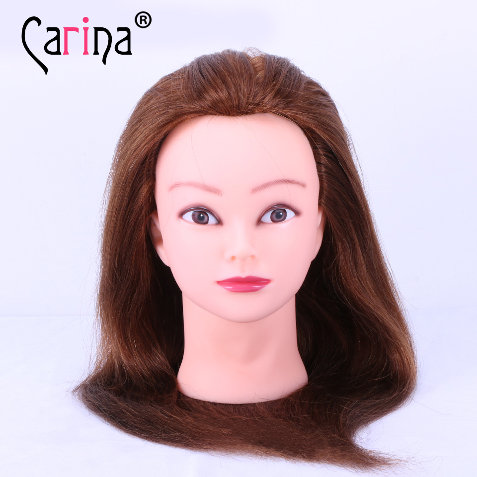 100 Human Hair Training Head Hairdressing Practice Training Mannequin Doll Head For Sale