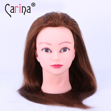100% Human Hair Training Head Hairdressing Practice Mannequin Doll For Sale