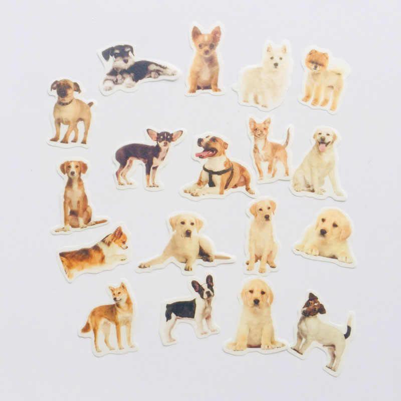 36 листов/упаковка Kawaii щенок собака и Маленькие кошки Васи бумажные стикеры этикетка-наклейка украшение для ноутбука наклейки
