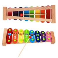 New Baby Kids Wood Toys Infant Cartoon Playing Type Educational Musical Instruments Accessories Toy 5 style