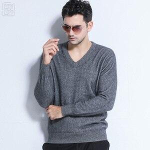 Image 3 - Promotion des ventes hiver marque hommes haut col rond 100 vison cachemire pull petit ami Style demi col roulé pull homme noël