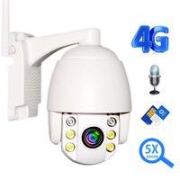 Ip камера безопасности 3g 4G sim карта 1080 P HD PTZ 5X зум Мини скоростной купол открытый беспроводной wifi камера Аудио разговора Onvif IR 60 м