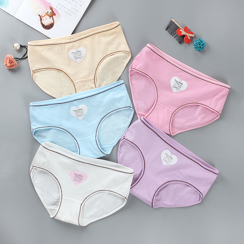 Mother & Kids Panties Little Girls Briefs Cotton/spandex Colorful Underwear Bring Cool Teen Breathable Young Comfort Experience Kids Panty 1piece Vivid And Great In Style
