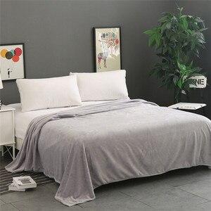 Image 2 - Super Zachte Warme Solid Warm Micro Pluche Fleece Deken Gooi Tapijt Sofa Beddengoed Dubbele Sprei Dekens Voor Bed Covers