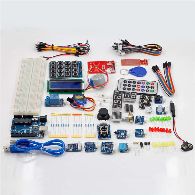 US $63 07 17% OFF|SunFounder RFID Starter Kit for Arduino Uno R3 Mega Nano  Circuit Board Jumper Wires Sensors V2 0 -in Integrated Circuits from