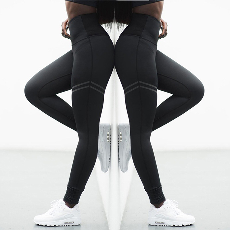 Hot Selling Patchwork Workout   Legging   High Waist Fitness   Leggings   Women pants Stretch Slim Sportswear Jeggings Large size