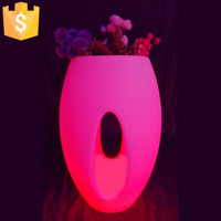 2017 Hot sale Multi color change pot/led flower vase/pub ice bucket Free shipping 2pcs/Lot