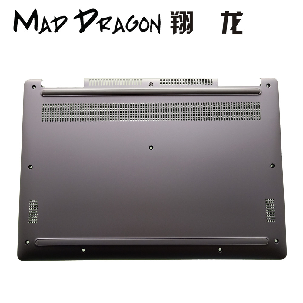 MAD DRAGON Brand Laptop Bottom Base Bottom Cover Assembly for Dell Inspiron 13 7370 7373 7380 Silver 0R58VX R58VX 460.0B605.005