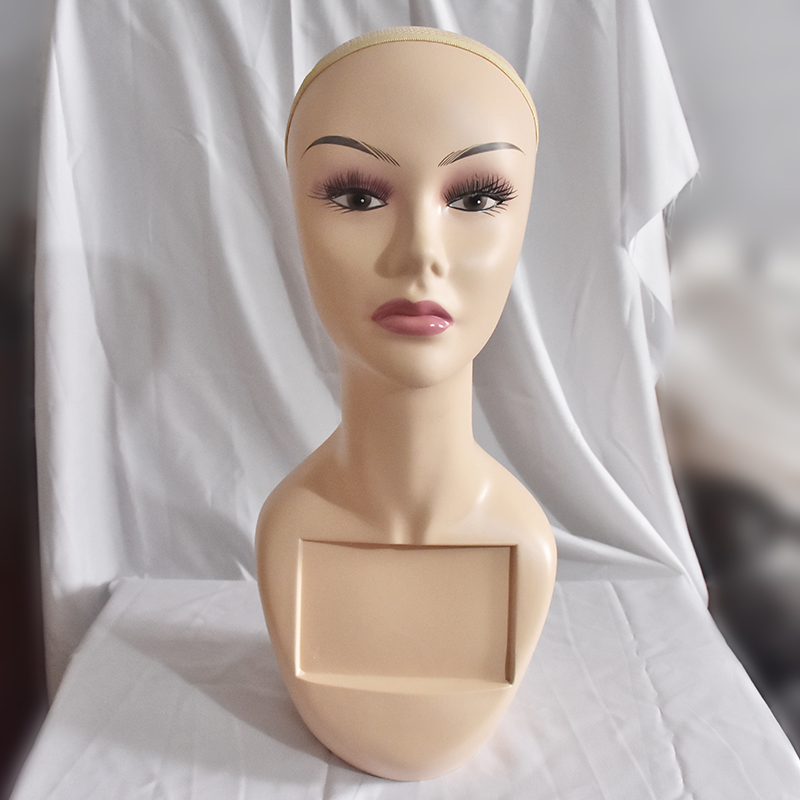 Free Shipping Female Mannequin Head For Wig/Hair/Hat/Jewellery Display Cosmetology Maquiagem Head Dummy For Hair 2pcs new female woman half body top shirt display inflatable mannequin dummy torso model free shipping