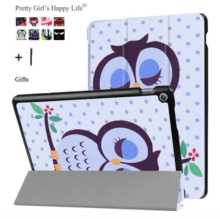 for ASUS Zenpad 10 Z301MFL Tablet Cover Case for ASUS Zenpad 10 Z300C/M/L Coque Print Flip Leather Stand Slim Capa Fundas+Stylus