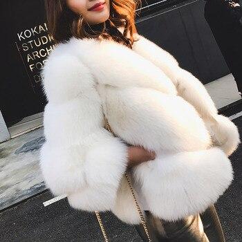 2021 winter new women real fox fur jackets short luxury whole skin genuine fox fur coat yellow color fashion natural fur coats Tatyana furclub Real Fur Short Jacket Coat Solid Winter Casual Natural Fox Fur Warm Coats For Women Clothes With Collar High