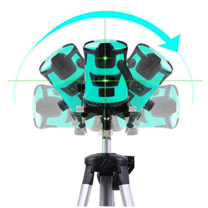 Touch Screen Laser Level 2 Line 2 Point Laser Level 360 Degree Bidirectional Fine Adjustment Laser Line Level Measurement