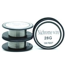 Nichrome wire 28 Gauge 100 FT (1.77oz) 0.3mm Resistance Resistor AWG Heating wire Resistance wire Alloy heating yarn