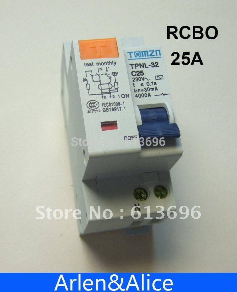 Dpnl 1 P + N 25A 230 В ~ 50 Гц/60 Гц УЗО с более ток утечки и авдт защиты