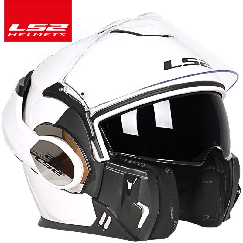 2017 Nova Chegada capacete ls2 ff399 Chrome-plated capacete Pode ser Usar óculos Completo Rosto Moto capacete Anti-patch de nevoeiro PINLOCK