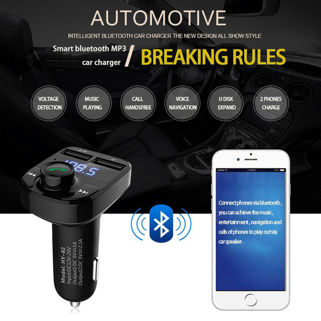 JaJaBor Bluetooth FM Transmitter Handsfree Car MP3 Audio Player