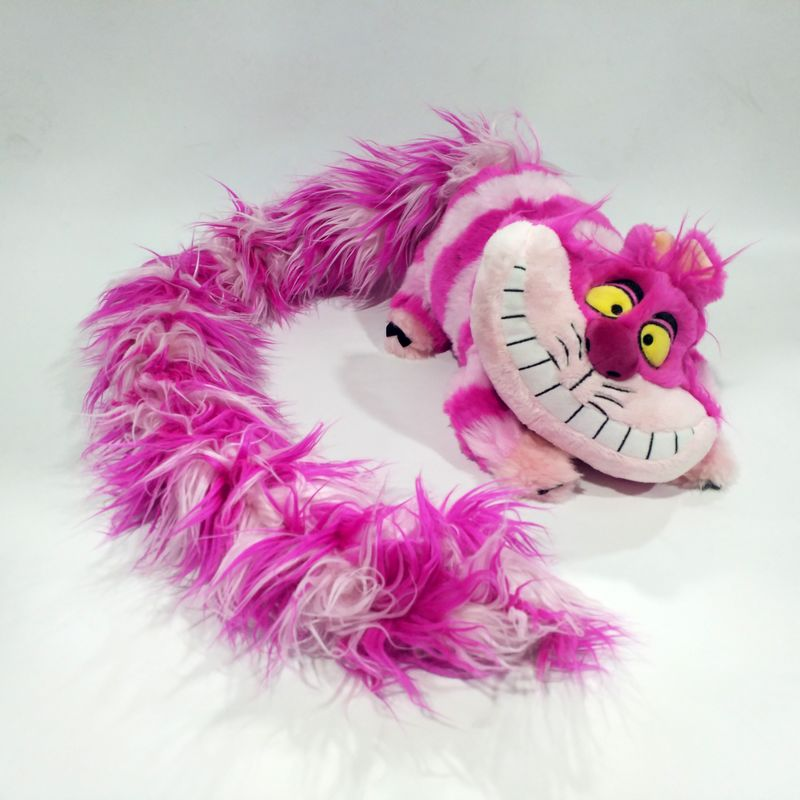 cartoon Cheshire Cat Plush Toy Long Tail Edition Cute Soft Toys for Children Kids Girls Christmas Gifts
