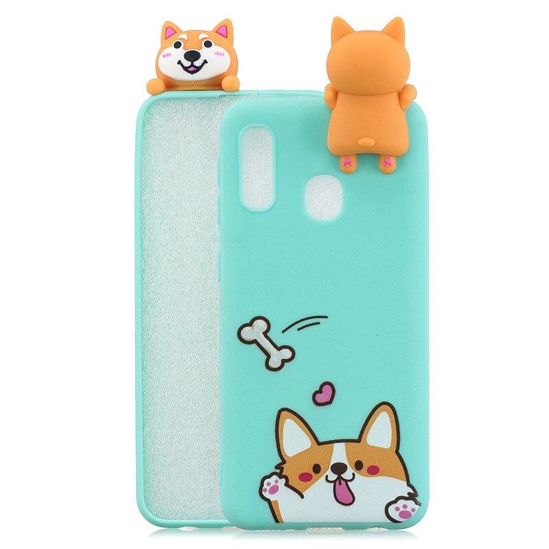 3D Doll Toys Case For Samsung Galaxy A20E A10 A30 A40 A50 A70 M10 M20 Back Cover Soft TPU Silicone Cartoon Phone Coque