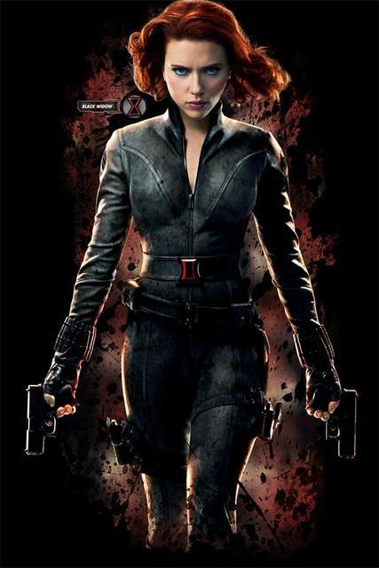 Custom Wall Decor Black Widow Poster Scarlett Johansson Sticker Avengers Wallpaper Size 50x76cm