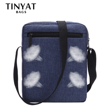 Men Handbag Bag New Male Men's Shoulder Bag For Ipad Canvas Crossbody Bag Light Waterproof Messenger Bag Casual Blue 1