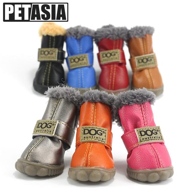 Pet Dog Shoes Boots Winter 4pcs set Waterproof Spring Pet Product Warm Fall  Anti Slip XS XL for Small Medium Pet Dog ChiHuaHua b4657a1b930f