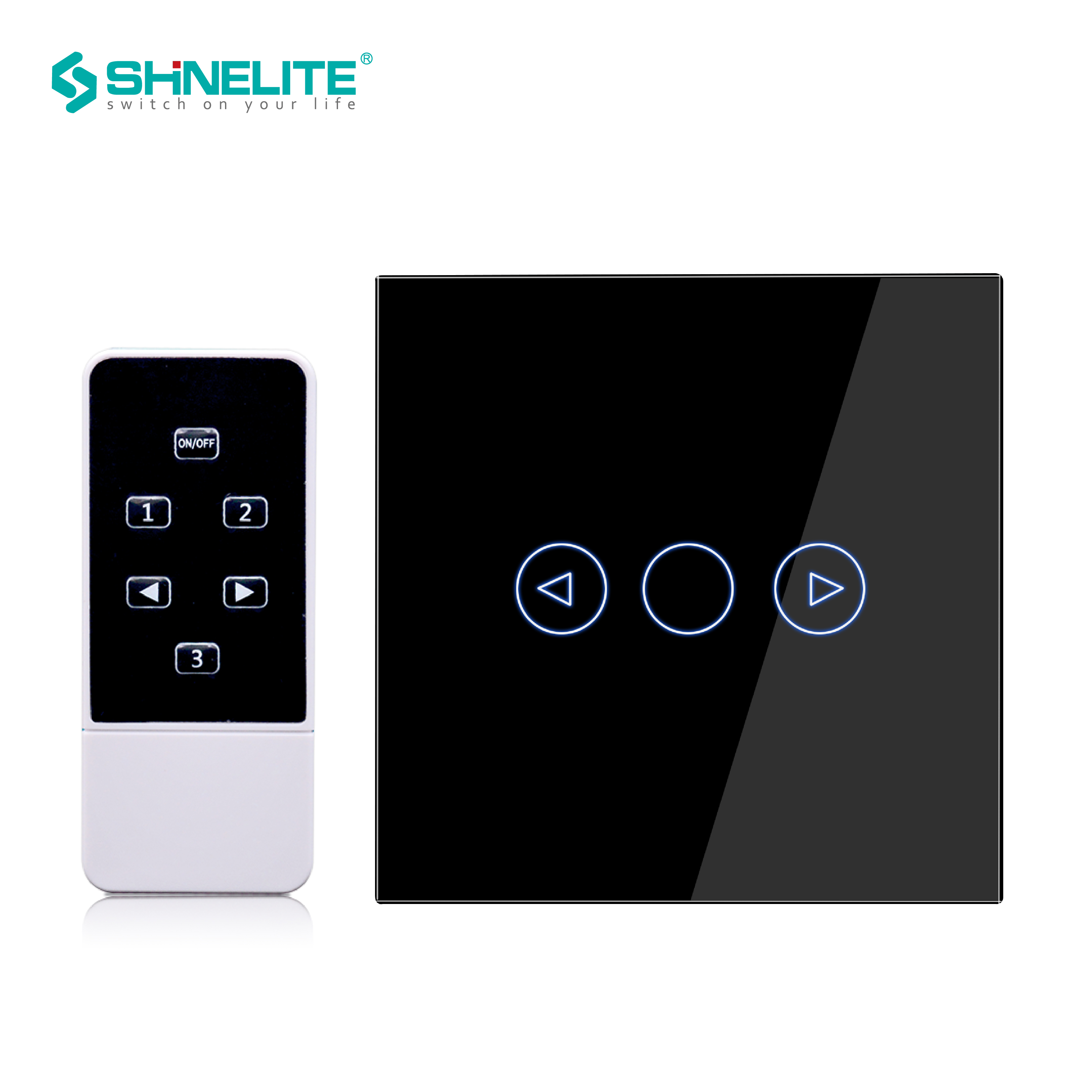 EU Remote Touch Dimmer Control Wall Light Switch White Crystal Luxury Glass panel Dimmer Switch 220V interruptor touch RF433hz in Switches from Lights Lighting
