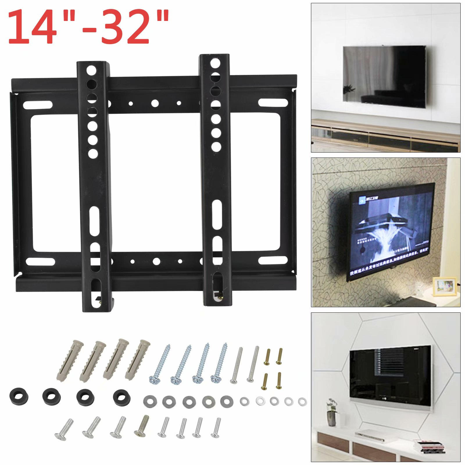 CellDeal Universal Thin 25KG Wall Bracket Mount Tilt Swivel Bracket Flat Panel TV Frame14 - 42 Inch For LCD LED Monitor Flat Pan