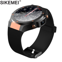SIKEMEI Luxury Stainless Steel Android Smart Watch Phone Fashion Sport Wristwatch with Camera Heart Rate WIFI Bluetooth GPS