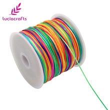Приблизительно 45 м/лот 0,8 мм Радужный шнур с кисточками DIY браслет ожерелье вощеная нить Ювелирная веревка китайский узел линия W0209