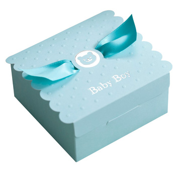 European Baby Boy Girl Party Angel Candy Boxes Baby Shower Favors Baby Birthday Party Sweet Box Chocolate Bag Box 1