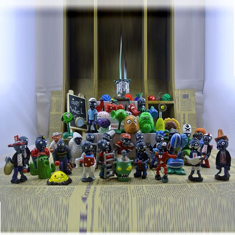 Plants vs Zombies Toy 3-7cm PVZ Collection Plant Zombine Figure Toys 40Pcs//Lot