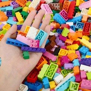 Image 3 - Blocs de construction colorés pour enfants, jouets créatifs, figurines pour enfants, filles et garçons, cadeaux de noël, 250 à 1000 pièces