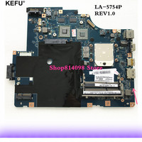 KEFU original For Lenovo G565 Z565 Laptop motherboard LA 5754P with Video card Good working