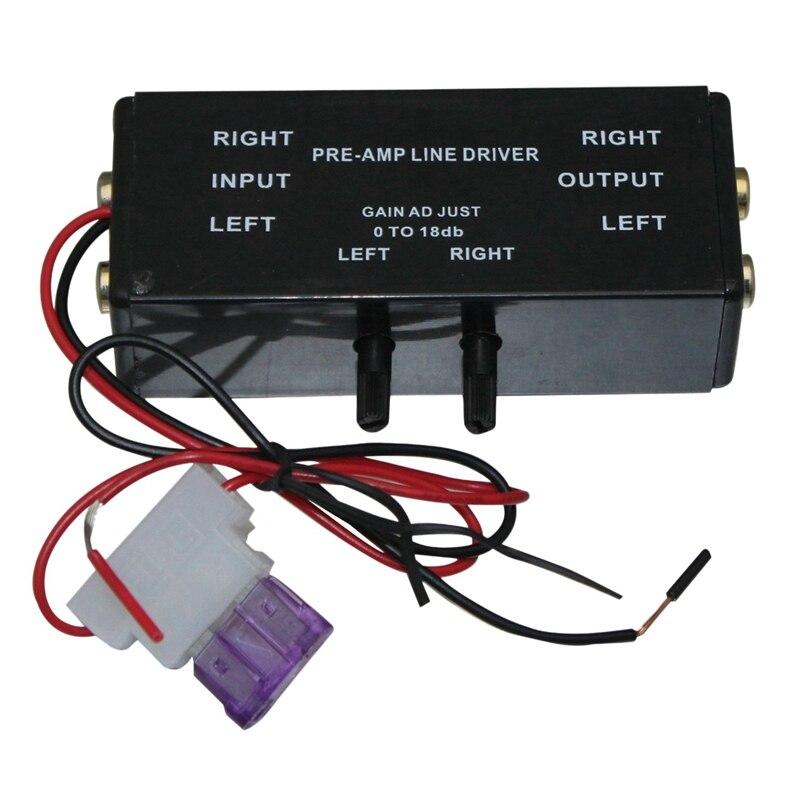 Nieuwe Zwarte Rca Input/Output Verstelbare Pac Turbo 1 Line Driver Signaal Versterker Booster Adapter Voor Auto Boot