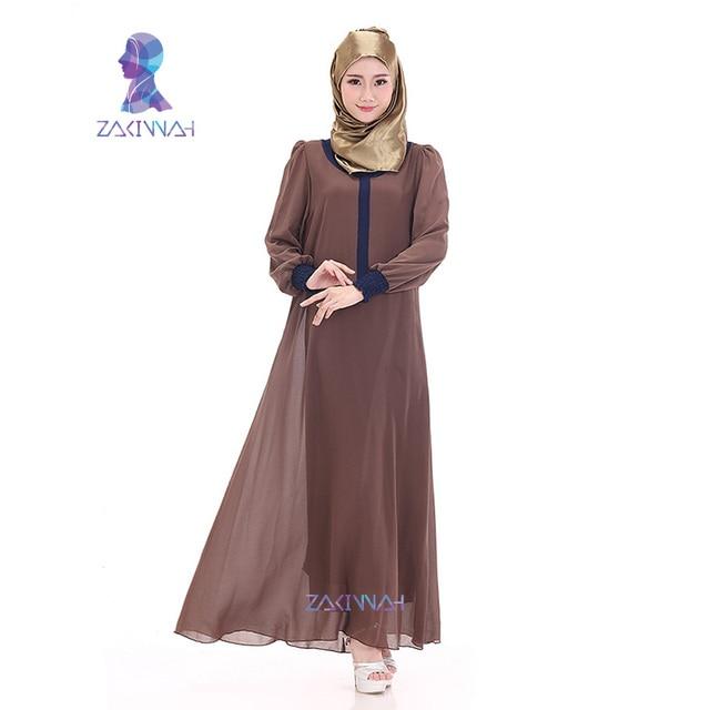 8403 Горячие продажа новые повседневная Высокое качество мусульманин абая абая для женщин исламского платья шифон с длинным рукавом турецкие женской одежды