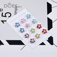 DCEE 12 шт./лот, брошь на булавке для женщин, Свадебная вечеринка, Повседневное платье, маленькие цветные броши с кристаллами, Женские Броши заколки для хиджаба