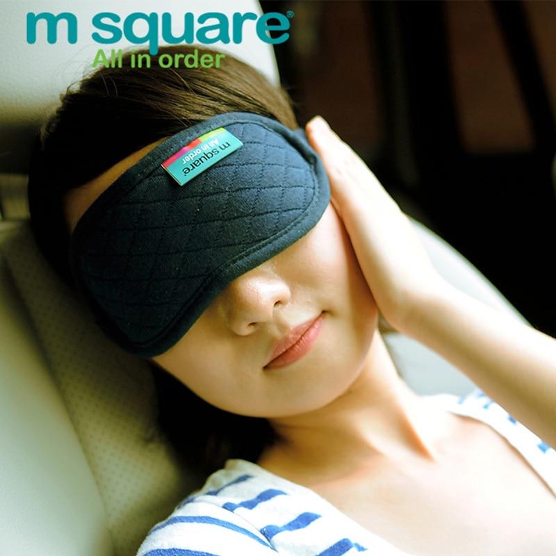 M Kwadratowe akcesoria podróżne do spania Eye Mask Cotton Sleep - Akcesoria podróżne - Zdjęcie 1