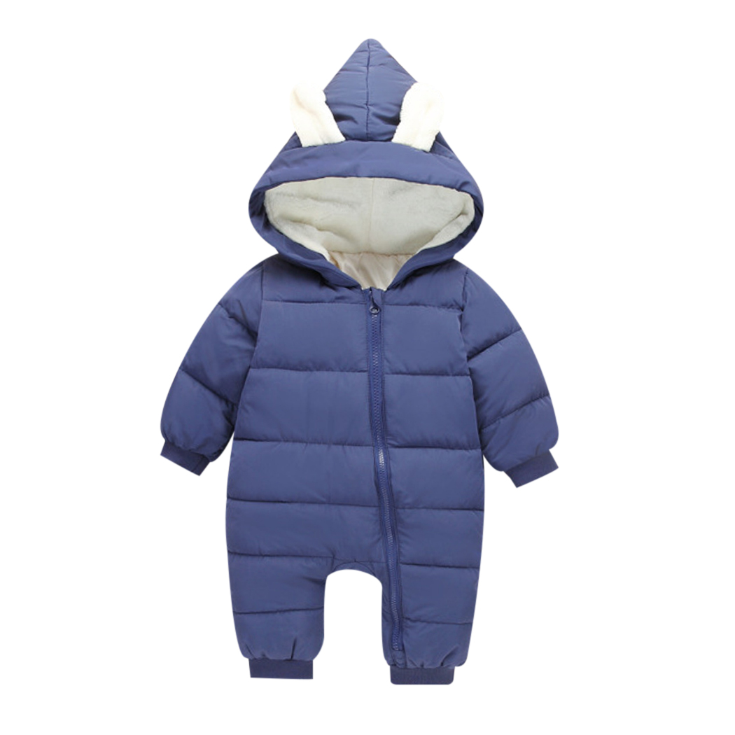 Newborn Clothing 2018 Spring Winter Warm Baby Girl Boy Snowsuit Down Baby Rompers Hoodies Kids Children Jumpsuit Overalls newborn overalls 2018 spring winter warm