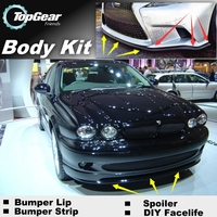 Bumper Lip Deflector Lips For Jaguar X Type X Type Front Spoiler Skirt For Top Gear Fans to Car View Tuning / Body Kit / Strip