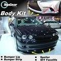Deflector pára Lábio Lábios Para Jaguar X-Tipo X Tipo Spoiler Dianteiro Saia para Top Gear Fãs a Opinião Do Carro Tuning/Body Kit/tira