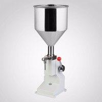 Construção em Aço inoxidável Série A03 5 ~ 50 ml Manual de Máquina de Enchimento Líquido Adequado para o enchimento de baixa para alta-a densidade de líquidos