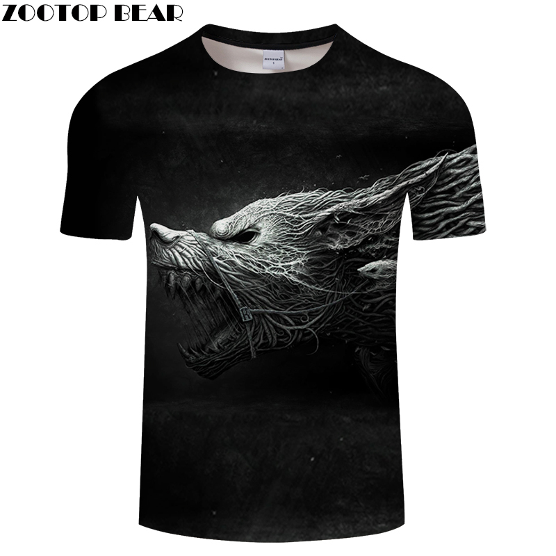 Dryad tshirt Men Women t shirt 3D Wolf T-shirt Animal Tee Short Sleeve Top O-Neck Camiseta Summer Streatwear Dropship ZOOTOPBEAR